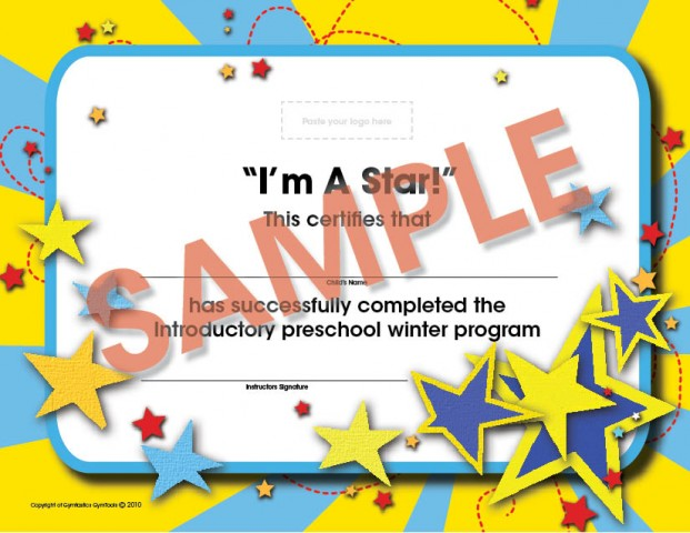 Winter Pre-School Certificate Intermediate (ages 3 5-5 years