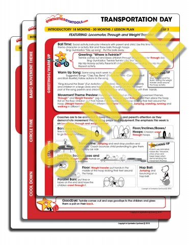 Transportation Day Lesson Plan Package   Gymtastics GymTools